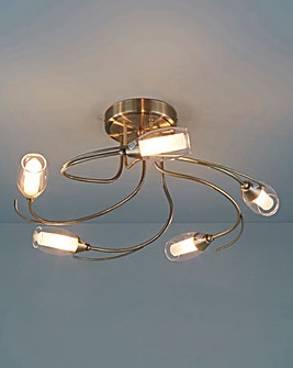 Iris 5 Light Ceiling Fitting