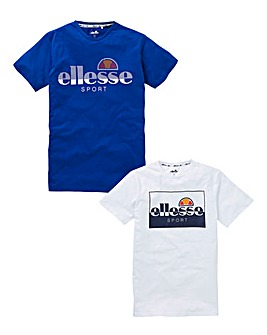 ellesse 2 Pack Of T-Shirts Long
