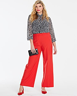 Mix and Match Red Wide Leg Trousers