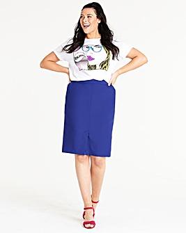 Mix and Match Colbalt Pencil Skirt