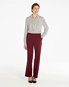 Basic Red Bootcut Workwear Trousers