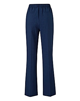 Basic Navy Bootcut Workwear Trousers