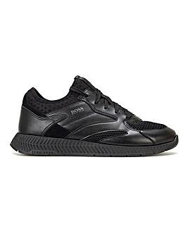 BOSS Leather Titanium Runner