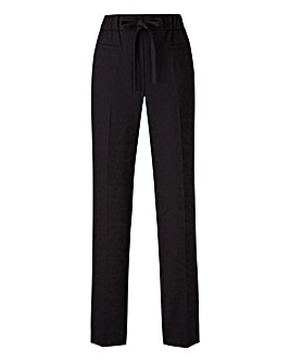 Basic Black Straight Workwear Trousers
