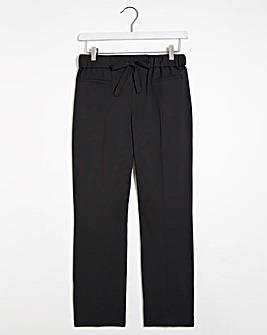 Basic Straight Leg Workwear Trousers Short