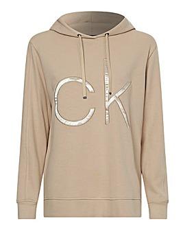 Calvin Klein Bonded Sateen Long Length Hoodie