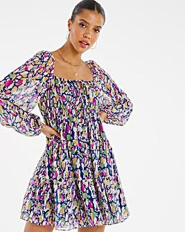 Chi Chi Floral Trend Square Neck Mini Dress