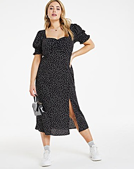 Chi Chi Elizabeth Spot Print Midi Dress
