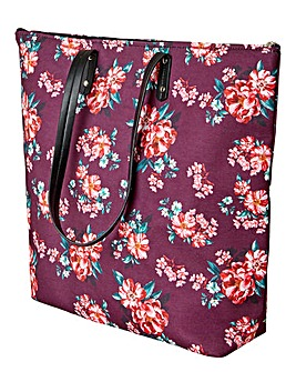 Joe Browns Purple Paisley Tote Bag