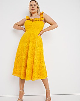 Little Misstress Frill Midi Dress