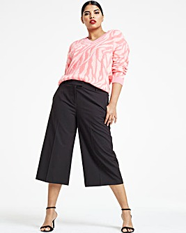 Black Tailored Culottes