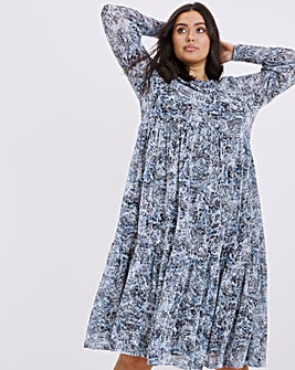 Finery London Zoe Tiered Midi Dress