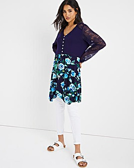 Joe Browns Rose Print Lace Tunic
