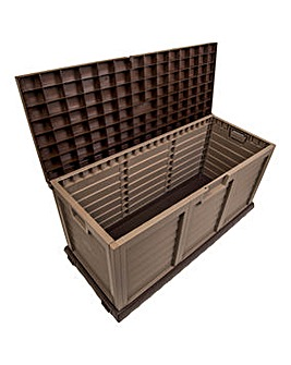 Large Storage Box Sit On Cover Mocha