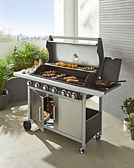 Spear & Jackson Premium 6 Burner Gas BBQ