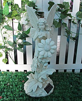 Gardenwize Solar Fairy with Bird