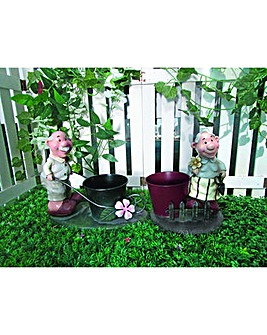 Gardenwize Old Couple Planter Pair