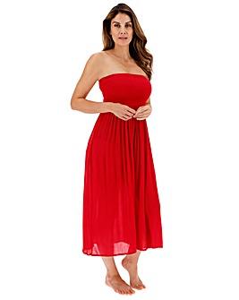 Shirred Top Maxi Beach Dress