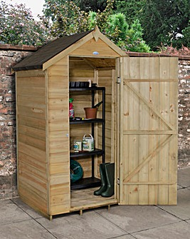 Overlap Pressure Treated 4x3 Apex Shed