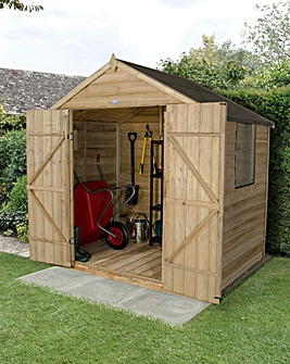 Overlap Pressure Treated 7x5 Apex Shed
