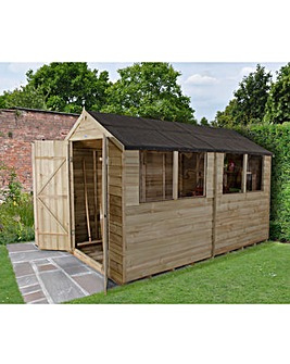 Overlap Pressure Treated 10x6 Apex Shed