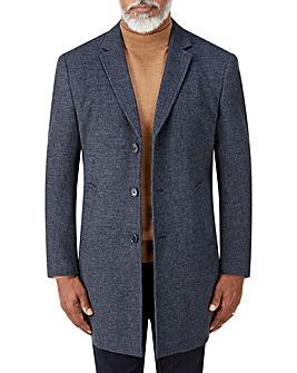 Skopes Sudbury Blue Check Overcoat