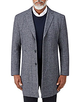 Skopes Tooting Herringbone Overcoat