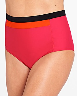 Pink/Orange High Waist Bikini Bottoms