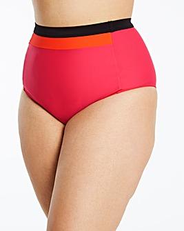 Pink/Orange High Waist Bikini Bottoms