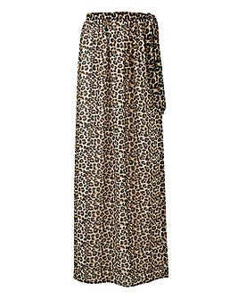 Animal Print Sarong Skirt