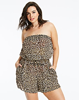 Animal Print Beach Playsuit
