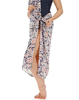 Magisculpt Abstract Print Sarong