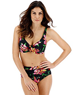 Magisculpt Dark Floral Bodysculpting Shaping Bikini Top