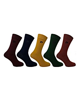 Pierre Cardin 5 Pack Plain Socks
