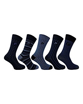 Pierre Cardin 5 Pack Textured Socks