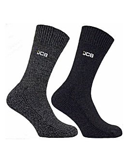 JCB 2 Pack Wool Blend Boot Sock
