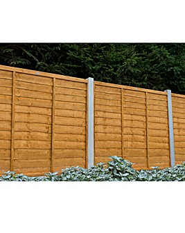 Pack of 3 Trade Lap Fence Panels