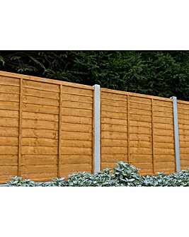 Pack of 5 Trade Lap Fence Panel