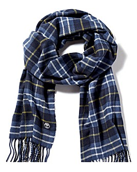 Timberland Plaid Scarf with Gift Box