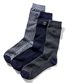 Timberland 3 Pack Ribbed Socks