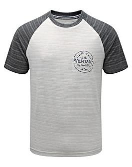 Tog24 Leyton Mens T-Shirt Mountain Print