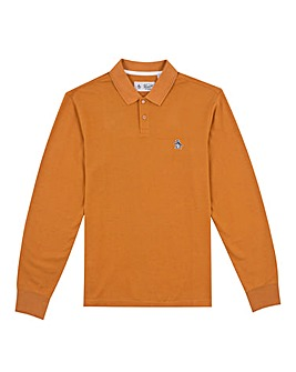 Original Penguin Long Sleeve Raised Rib Polo