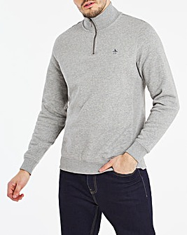 Original Penguin Quater Zip Sweatshirt
