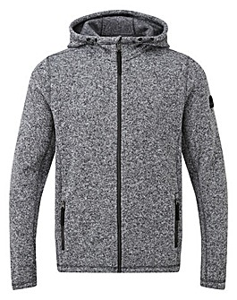 Tog24 Cropton Mens Knitlook Flc Hood