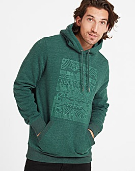 Tog24 Hensell Mens Hood Linear Print