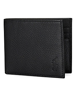 Polo Ralph Lauren Black Fold Leather Wallet