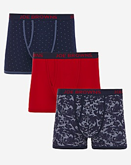Joe Browns Cotton Three Pack Boxers