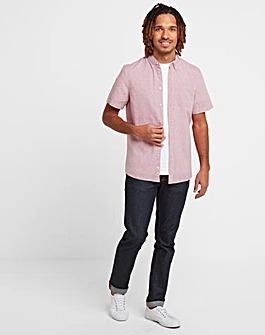 Tog24 Kahlo Mens Plain Linen Shirt
