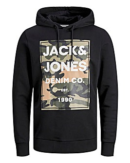 Jack & Jones Camo Hooded Sweatshirt