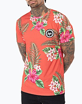 Hype Red Hawaii T-Shirt Long